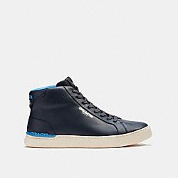 COACH C5986 Clip High Top Sneaker MIDNIGHT NAVY
