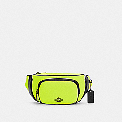 COURT BELT BAG IN COLORBLOCK - C6077 - QB/GLO LIME