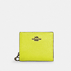 SNAP WALLET IN COLORBLOCK - C6126 - QB/GLO LIME