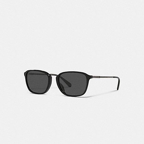 COACH C6192 SIGNATURE METAL FRAME SUNGLASSES BLACK/ ANTIQUE SILVER