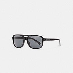 COACH C6193 Signature Pilot Sunglasses BLACK