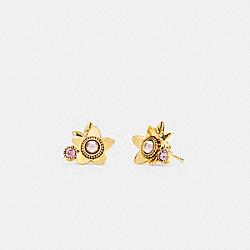 COACH C6298 Wildflower Stud Earrings GOLD.