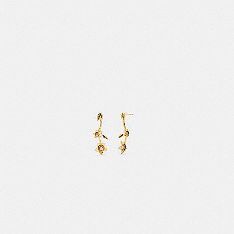 COACH C6299 WILDFLOWER PEARL DROP EARRINGS GOLD.