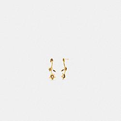 COACH C6299 - WILDFLOWER PEARL DROP EARRINGS GOLD.