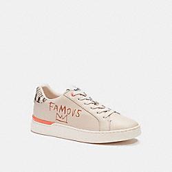 COACH C6358 Coach X Jean-michel Basquiat Clip Low Top Sneaker IVORY/ SNAKE