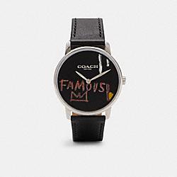 COACH X JEAN-MICHEL BASQUIAT GRAND WATCH, 40MM - C6529 - BLACK