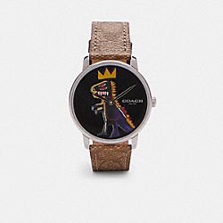 COACH X JEAN-MICHEL BASQUIAT GRAND WATCH, 40MM - C6530 - KHAKI