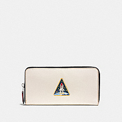 ACCORDION WALLET WITH ROCKET EARTH - F10464 - CHALK