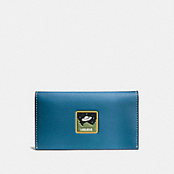 COACH F10469 Phone Wallet With Ufo Believe RIVER