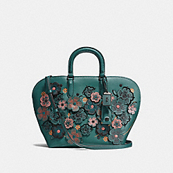 COACH F10505 Dakotah Satchel With Linked Tea Rose BP/DARK TURQUOISE