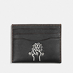 COACH F11029 Keith Haring Card Case BLACK/CHALK