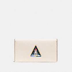 PHONE WALLET WITH ROCKET - F11122 - CHALK