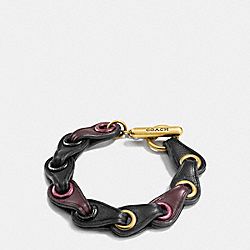COACH F11151 Coach Link Bracelet GOLD/OXBLOOD