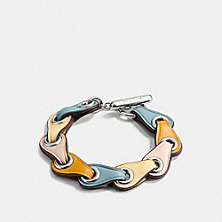 COACH LINK BRACELET - f11151 - SILVER/PALE PINK