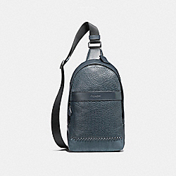 CHARLES PACK WITH BASEBALL STITCH - f11236 - BLACK ANTIQUE NICKEL/DENIM