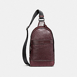 CHARLES PACK WITH BASEBALL STITCH - f11236 - BLACK ANTIQUE NICKEL/OXBLOOD