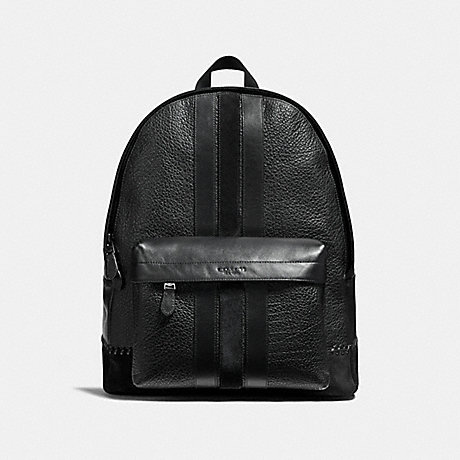 COACH f11250 CHARLES BACKPACK WITH BASEBALL STITCH ANTIQUE NICKEL/BLACK