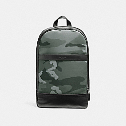 COACH CHARLES SLIM BACKPACK WITH CAMO PRINT - NIMS6 - F11252
