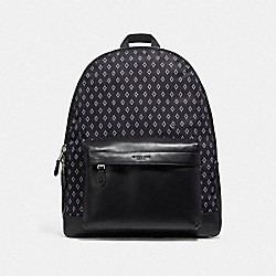 COACH CHARLES BACKPACK WITH DIAMOND FOULARD - NIMS4 - F11271