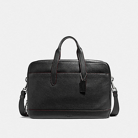 COACH f11312 HAMILTON COMMUTER NICKEL/BLACK/OXBLOOD