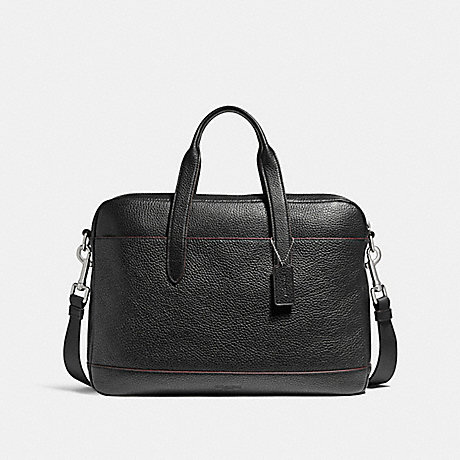 COACH f11319 HAMILTON BAG NICKEL/BLACK/OXBLOOD
