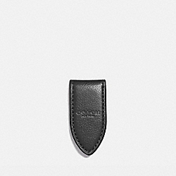 LEATHER MONEY CLIP - f11456 - BLACK