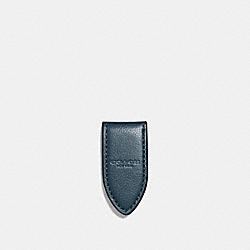 LEATHER MONEY CLIP - f11456 - DENIM