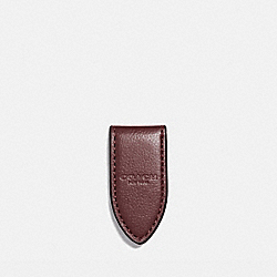 LEATHER MONEY CLIP - f11456 - OXBLOOD