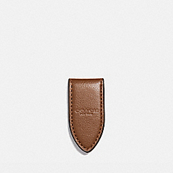 LEATHER MONEY CLIP - f11456 - SADDLE