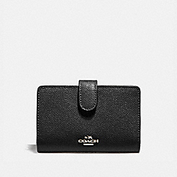 COACH F11484 - MEDIUM CORNER ZIP WALLET BLACK/LIGHT GOLD