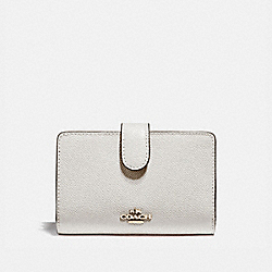 COACH F11484 - MEDIUM CORNER ZIP WALLET CHALK/LIGHT GOLD