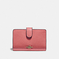 COACH F11484 - MEDIUM CORNER ZIP WALLET ROSE PETAL/IMITATION GOLD