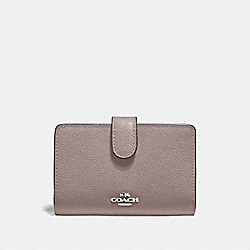 COACH F11484 Medium Corner Zip Wallet GREY BIRCH/SILVER