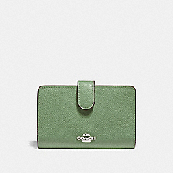 COACH F11484 Medium Corner Zip Wallet CLOVER/SILVER