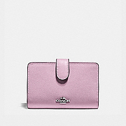 COACH F11484 - MEDIUM CORNER ZIP WALLET LILAC/SILVER