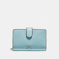 COACH F11484 - MEDIUM CORNER ZIP WALLET CLOUD/SILVER