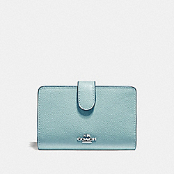 COACH F11484 Medium Corner Zip Wallet MARINE/SILVER