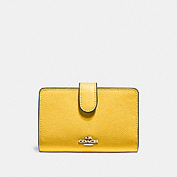 COACH F11484 Medium Corner Zip Wallet CANARY 2/SILVER