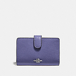 COACH F11484 - MEDIUM CORNER ZIP WALLET LIGHT PURPLE/SILVER