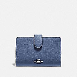 COACH F11484 Medium Corner Zip Wallet SV/BLUE LAVENDER