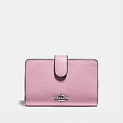 COACH F11484 Medium Corner Zip Wallet TULIP