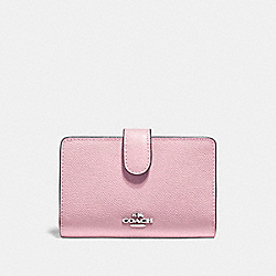 MEDIUM CORNER ZIP WALLET - F11484 - CARNATION/SILVER