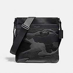 CHARLES CROSSBODY IN BLACKOUT MIXED MATERIALS - f11588 - MATTE BLACK/BLACK