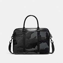 COACH F11635 Perry Slim Brief In Blackout Mixed Materials MATTE BLACK/BLACK