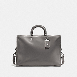 COACH F11647 - ROGUE BRIEF HEATHER GREY/BLACK COPPER FINISH