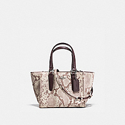 COACH F11762 - CROSBY CARRYALL 21 IN PYTHON EMBOSSED LEATHER SILVER/CHALK MULTI