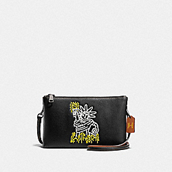 KEITH HARING LYLA CROSSBODY - F11771 - BLACK/BLACK ANTIQUE NICKEL