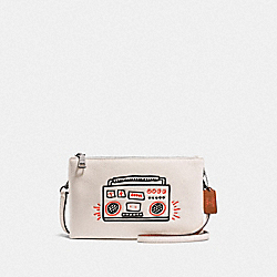 KEITH HARING LYLA CROSSBODY - F11771 - CHALK/BLACK ANTIQUE NICKEL