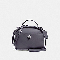 COACH F11785 - LUNCH PAIL IN RETRO SMOOTH CALF LEATHER ANTIQUE NICKEL/MIDNIGHT