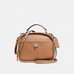 COACH F11785 - LUNCH PAIL IN RETRO SMOOTH CALF LEATHER SILVER/SADDLE